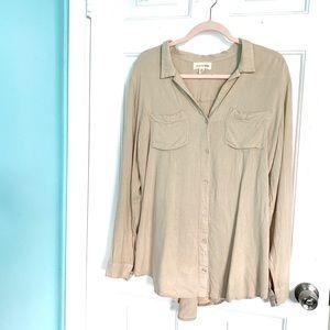 Anthropologie-Cloth&Stone Button Down Shirt